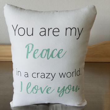 Love quote pillow cotton throw pillow spouse cushion home decor
