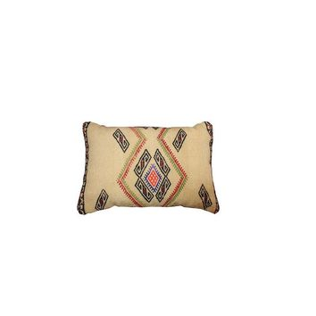 Pre-owned Vintage Kilim Lumbar Pillow