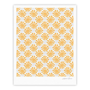 "Apple Kaur Designs ""Sunburst"" Orange Gray Fine Art Gallery Print"