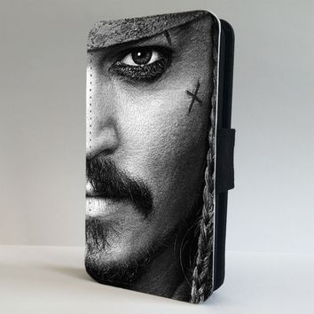 Jack Sparrow Johnny Depp Pirate FLIP PHONE CASE COVER fits IPHONE SAMSUNG