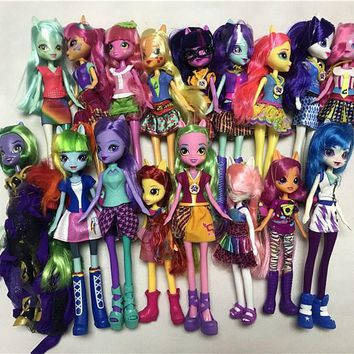 My Little Pony Equestria Girls Twilight Sparkle Applejack Pinkie Pie Fluttershy Lemon Zest Sour Sweet Toy Dolls New No Package