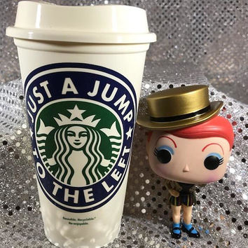 "Awesome Rocky Horror Picture Show Personalized Customized ""Just a Jump to the Left"" Starbucks Cup"