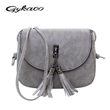 Gykaeo 2017 Winter New Women Small Bag Ladies Casual Fringed Messenger Shoulder Bags Female Evening Day Clutches Bag Sac A Main