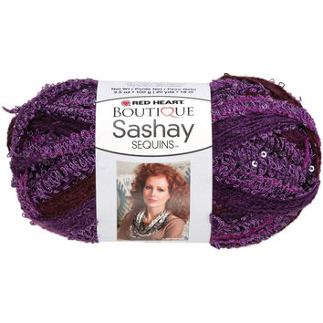 Red Heart Boutique Sashay Sequins Yarn-Concord