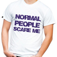 Mens Normal People Scare Me - Mens Short and Long Sleeve - Odd Shirt - Gothic Shirt - Guys Funny Tshirt - Gift For Boyfriend 2183