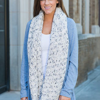 Warm And Toasty Infinity Scarf, White