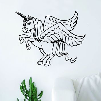 Unicorn V7 Wall Decal Sticker Vinyl Room Decor Decoration Art Bedroom Cute Magical Horse Girl Teen Baby Nursery