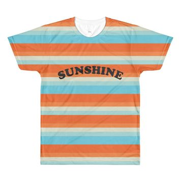 Sunshine Stripe Print Tee