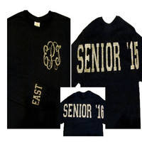 Custom Monogrammed Senior Long Sleeve Shirt