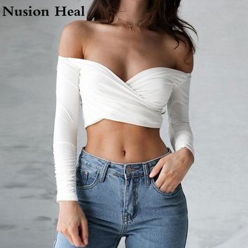 Super Soft Knitted Rib Yoga Shirts Tops With Thumb Hole Sexy Cropped Workout Tops Skinny Fit Sports Shirts Sexy Athletic Wear