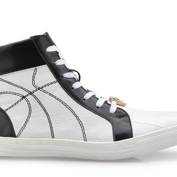 Magic II Crocodile And Calfskin High Top Sneaker