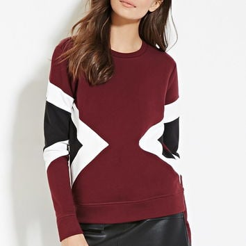 Contemporary Geo-Colorblocked Sweatshirt