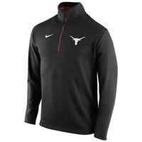 Texas Longhorns Nike Football Coaches Sideline Half Zip Knit Performance Jacket – Black