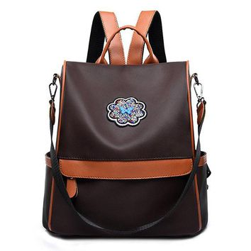 Women Stylish Multifunctional Faux Leather Backpack