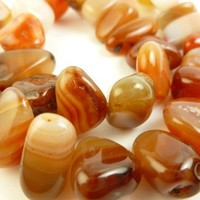 Brazilian Red Agate Large Nugget Gemstone Beads Polished Hand-Cut