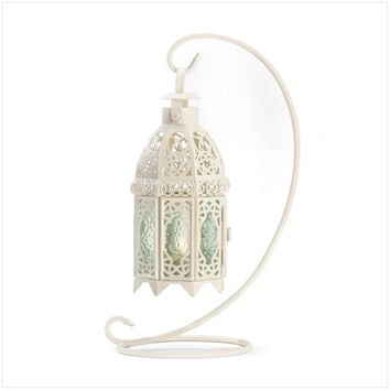 White Fancy Lantern W-Stand