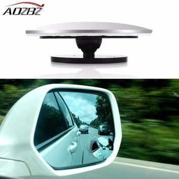 Clear Car Rear View Mirror 360 Degree Rotating Wide Angle Blind Spot Mirror Round Convex Parking Mirror Auto Exterior Accessory