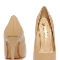 LULUS Gigi Camel Pointed Pumps