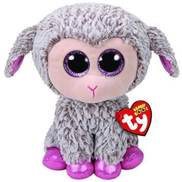 "Pyoopeo Ty Beanie Boos 6"" 15cm Dixie the LAMB / SHEEP Plush Regular Stuffed Animal Collectible Soft Big Eyes Plush Doll Toy"