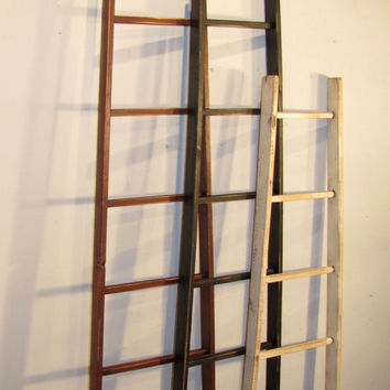 "Rustic Orchard Ladder -6 Rung - 63"" Tall - Color Choice - FREE SHIPPING"