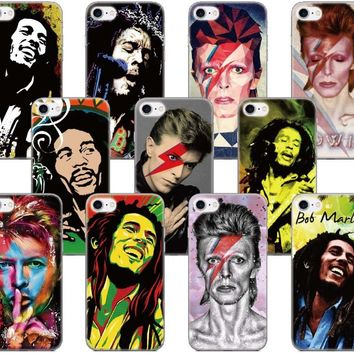 David Bowie Bob Marleys Case For Samsung Galaxy Core Prime G360 C5 A3 A5 A7 A8 A9 J1 J3 J5 2015 Version J7 Plus Phone Cover Capa