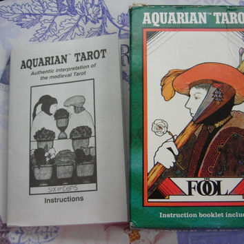 The Aquarian Tarot Deck, illustrated by David Palladini. Published 1993 by U.S. Games Systems, Inc.