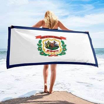 West Virginia State Flag Beach Towel