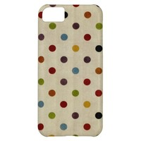 cute rainbow polka dot pattern case for iPhone 5C