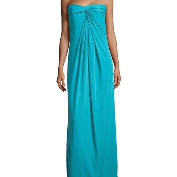 Strapless Twisted Gown, Caribbean, Size: