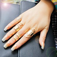 5 Piece 18K Gold Plated Ring Set