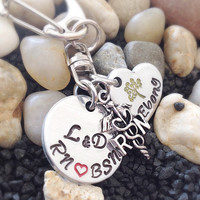 Nurse Gift with Nurse Charm - Nurse Necklace - Nurse gift ideas for a labor and delivery - RN, BSN, CNM graduation gift