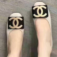 CHANEL New fashion women's shoes with flat bottom single shoes egg rolls shoes Apricot