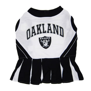 Mirage Pet Products Puppy Dog Cat Costume Oakland Raiders Sports Team Logo Cheer Leading Uniform SM