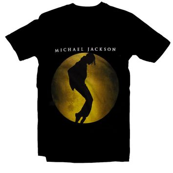 Michael Jackson Moonwalking T-Shirt Tip Toe Black NEW