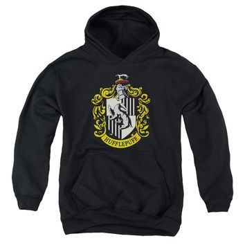 Harry Potter - Hufflepuff Crest Youth Pull Over Hoodie