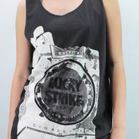 LUCKY STRIKE - T Shirts Tank Top handmade silk screen printing
