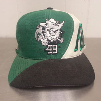 Amazing Rare 90's Charlotte 49ers Snapback Hat University of North Carolina Charlotte Big Block Lettering NCAA Football Retro Vintage TON