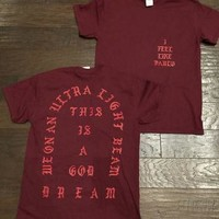 I Feel like Pablo The Real Life of Pablo Yeezy MSG Kanye West T shirt