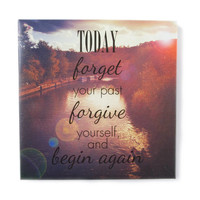 Today Forget Your Past Wall Canvas