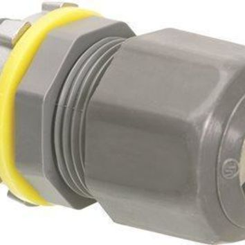 Arlington Strain Relief Cord Connector, Liquid Tight-oil Tight, Non-metallic, 1-2 In.