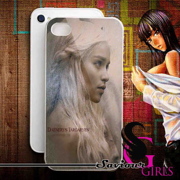 Daenerys Targaryen for iPhone 4/4S, 5/5S, 5C and Samsung Galaxy S3, S4 - Rubber and Plastic Case