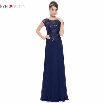 Short Sleeve Navy Blue Mother of the Bride Dresses Ever Pretty HE08818 2017 Lace Mother Of The Bride Dresses