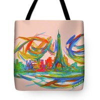 Paris Twist Tote Bag