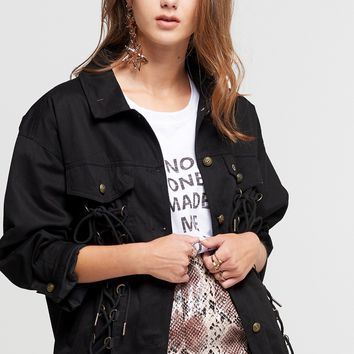 Alycia Lace-Up Safari Jacket Discover the latest fashion trends online at storets.com