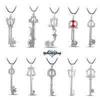 Hot Game Kingdom Hearts Metal Necklace Keyblade Pendant Cosplay Accessories Jewelry Gift can Drop-shipping