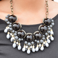 Beading Love Necklace: Black/Grey | Hope's