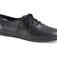 Keds Champion Oxford CVO {Black Leather} Women's | WH45780