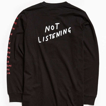 Lazy Oaf Blah Blah Long Sleeve Tee | Urban Outfitters