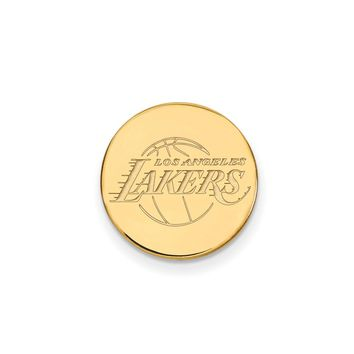 NBA 14k Yellow Gold Plated Silver Los Angeles Lakers Lapel Pin