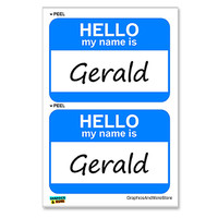 Gerald Hello My Name Is - Sheet of 2 Stickers